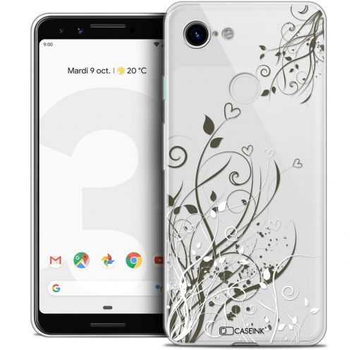 "Carcasa Crystal Gel Extra Fina Google Pixel 3 (5.5"") Love Hearts Flowers"