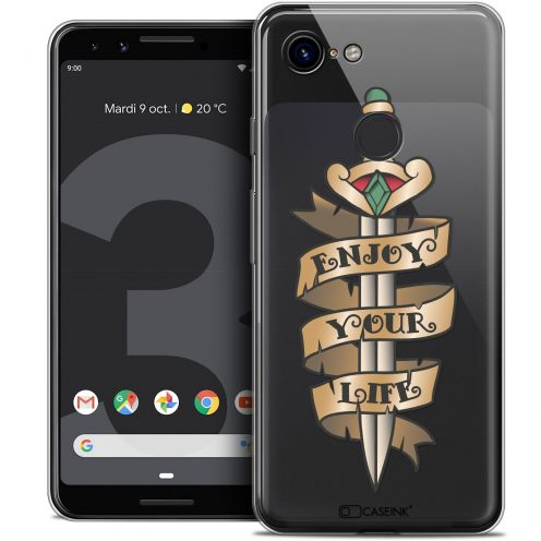 "Carcasa Crystal Gel Extra Fina Google Pixel 3 (5.5"") Tatoo Lover Enjoy Life"