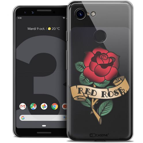 "Carcasa Crystal Gel Extra Fina Google Pixel 3 (5.5"") Tatoo Lover Red Rose"