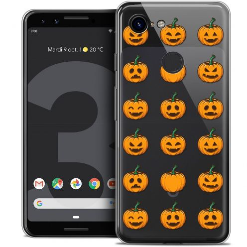 "Carcasa Crystal Gel Extra Fina Google Pixel 3 (5.5"") Halloween Smiley Citrouille"
