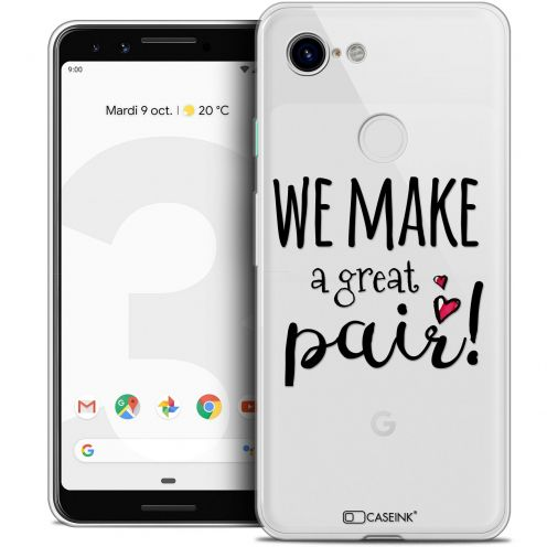 "Carcasa Crystal Gel Extra Fina Google Pixel 3 (5.5"") Love We Make Great Pair"