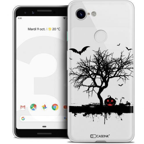 "Carcasa Crystal Gel Extra Fina Google Pixel 3 (5.5"") Halloween Devil's Tree"