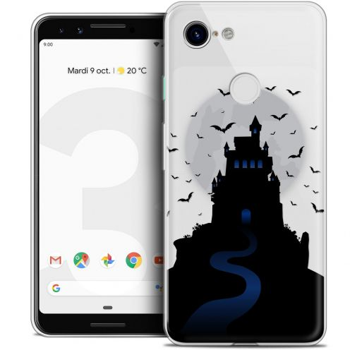 "Carcasa Crystal Gel Extra Fina Google Pixel 3 (5.5"") Halloween Castle Nightmare"