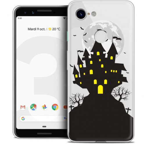 "Carcasa Crystal Gel Extra Fina Google Pixel 3 (5.5"") Halloween Castle Scream"