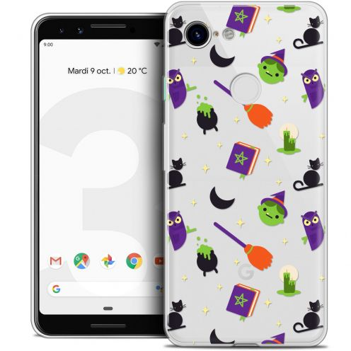 "Carcasa Crystal Gel Extra Fina Google Pixel 3 (5.5"") Halloween Witch Potter"
