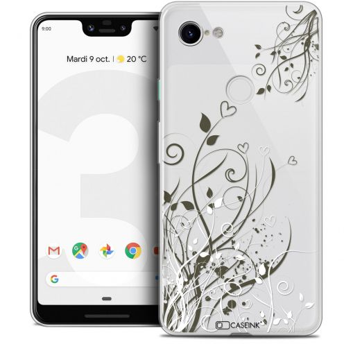 "Carcasa Crystal Gel Extra Fina Google Pixel 3 XL (6.3"") Love Hearts Flowers"