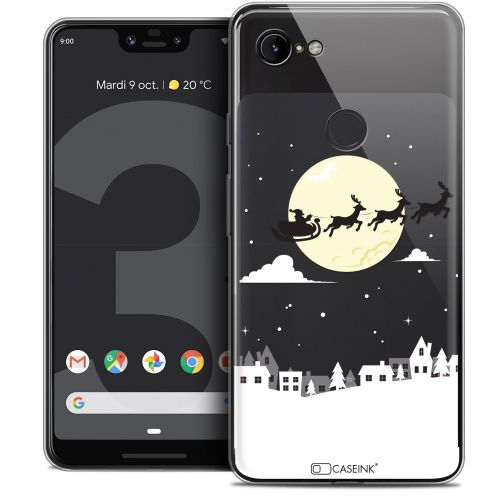 "Carcasa Crystal Gel Extra Fina Google Pixel 3 XL (6.3"") Noël 2017 Flying Stanta"