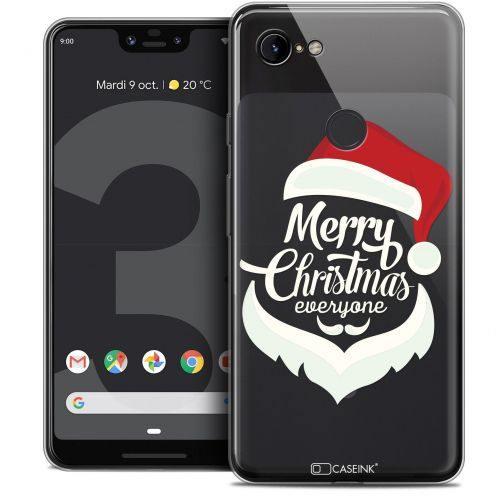 "Carcasa Crystal Gel Extra Fina Google Pixel 3 XL (6.3"") Noël 2017 Merry Everyone"