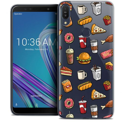 "Carcasa Crystal Gel Extra Fina Asus Zenfone Max Pro (M1) ZB601KL (6"") Foodie Fast Food"