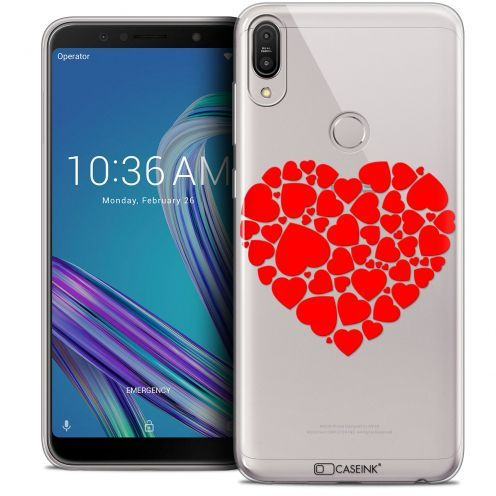 "Carcasa Crystal Gel Extra Fina Asus Zenfone Max Pro (M1) ZB601KL (6"") Love Coeur des Coeurs"