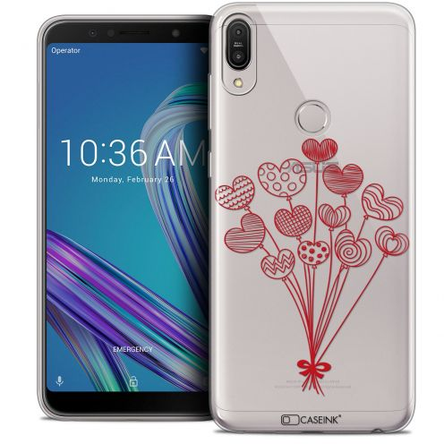 "Carcasa Crystal Gel Extra Fina Asus Zenfone Max Pro (M1) ZB601KL (6"") Love Ballons d'amour"