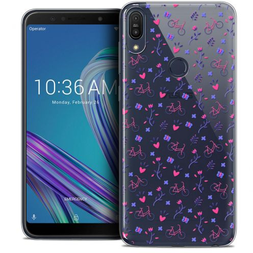 """Carcasa Crystal Gel Extra Fina Asus Zenfone Max Pro (M1) ZB601KL (6"""") Love Bicycle"""