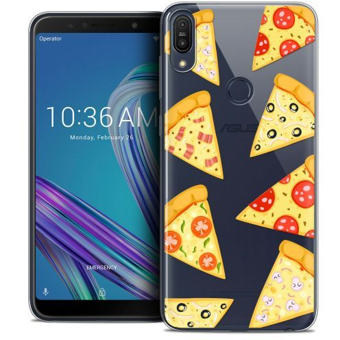 "Carcasa Crystal Gel Extra Fina Asus Zenfone Max Pro (M1) ZB601KL (6"") Foodie Pizza"