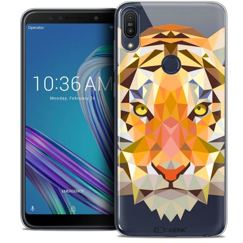 "Carcasa Crystal Gel Extra Fina Asus Zenfone Max Pro (M1) ZB601KL (6"") Polygon Animals Tigre"