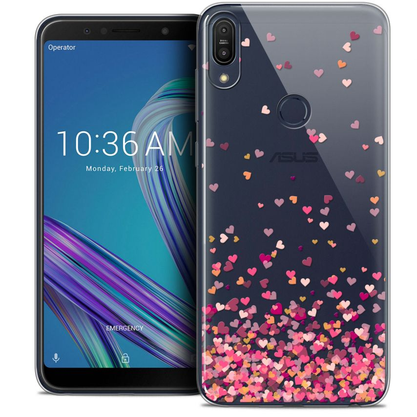 """Carcasa Crystal Gel Extra Fina Asus Zenfone Max Pro (M1) ZB601KL (6"""") Sweetie Heart Flakes"""