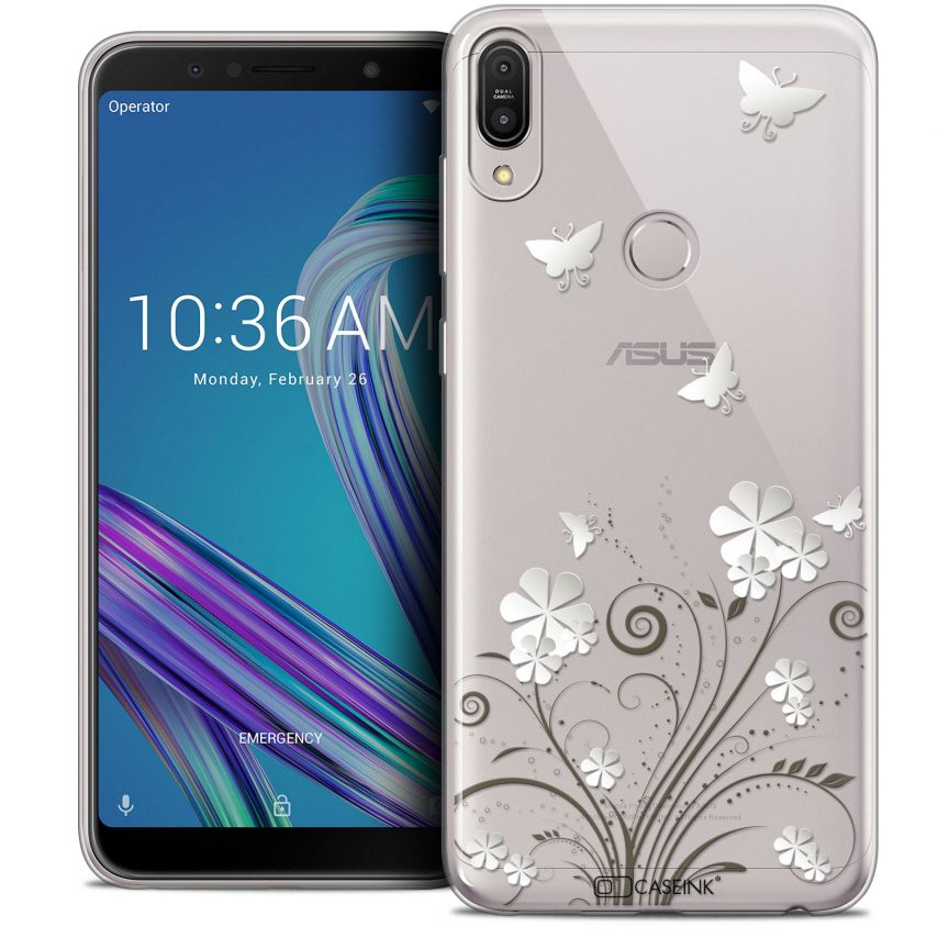 "Carcasa Crystal Gel Extra Fina Asus Zenfone Max Pro (M1) ZB601KL (6"") Summer Papillons"