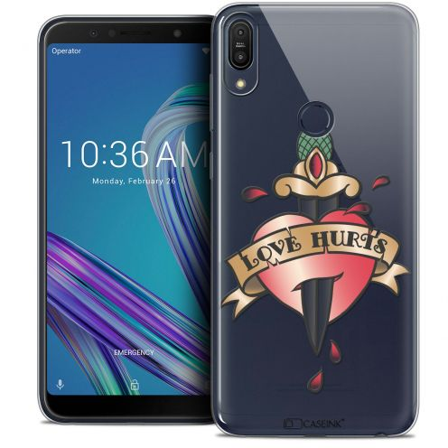 "Carcasa Crystal Gel Extra Fina Asus Zenfone Max Pro (M1) ZB601KL (6"") Tatoo Lover Love Hurts"