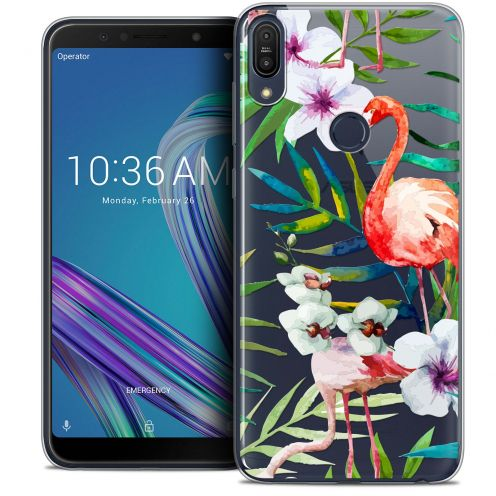 "Carcasa Crystal Gel Extra Fina Asus Zenfone Max Pro (M1) ZB601KL (6"") Watercolor Tropical Flamingo"