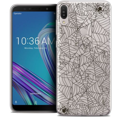 "Carcasa Crystal Gel Extra Fina Asus Zenfone Max Pro (M1) ZB601KL (6"") Halloween Spooky Spider"