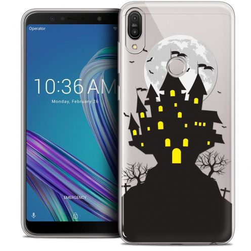 "Carcasa Crystal Gel Extra Fina Asus Zenfone Max Pro (M1) ZB601KL (6"") Halloween Castle Scream"