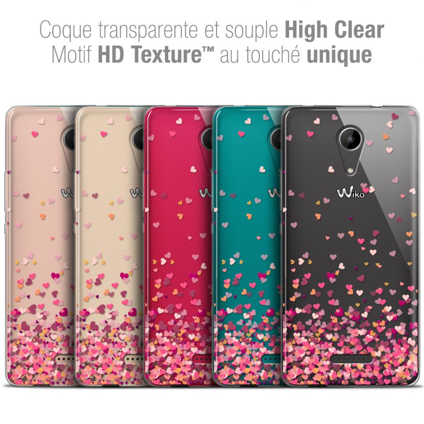 "Carcasa Crystal Gel Extra Fina Wiko Tommy 2 (5"") Sweetie Heart Flakes"