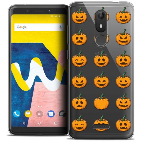 "Carcasa Crystal Gel Extra Fina Wiko View LITE (5.45"") Halloween Smiley Citrouille"