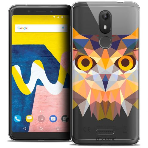 "Carcasa Crystal Gel Extra Fina Wiko View LITE (5.45"") Polygon Animals Búho"