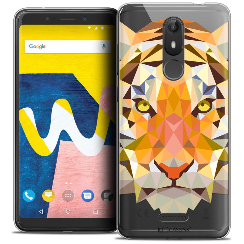 "Carcasa Crystal Gel Extra Fina Wiko View LITE (5.45"") Polygon Animals Tigre"