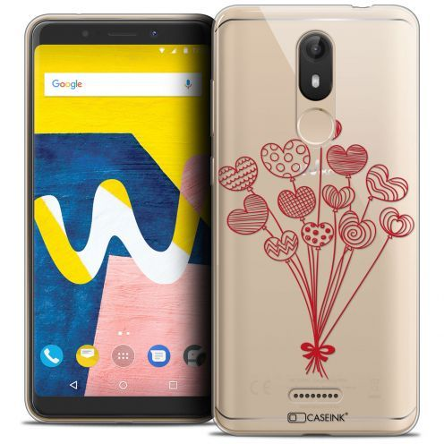 """Carcasa Crystal Gel Extra Fina Wiko View LITE (5.45"""") Love Ballons d'amour"""