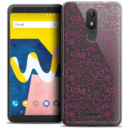 """Carcasa Crystal Gel Extra Fina Wiko View LITE (5.45"""") Love Doodle"""