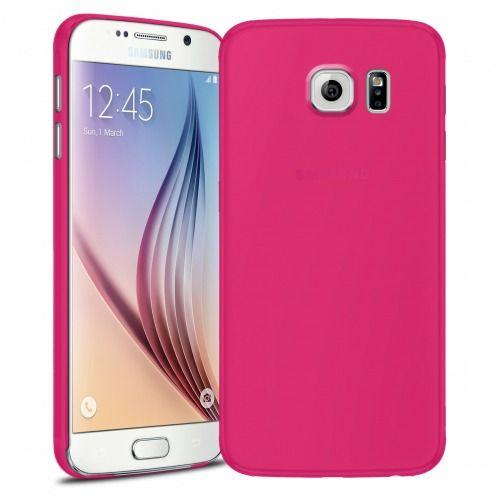 Funda Ultra fino 0.3mm Frost Samsung Galaxy S6 Fuchsia