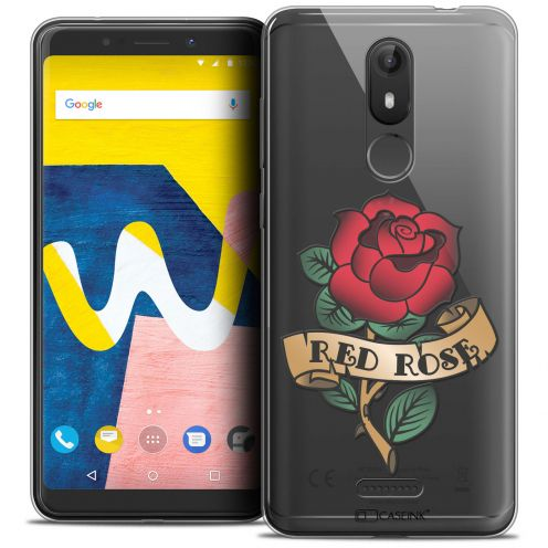 """Carcasa Crystal Gel Extra Fina Wiko View LITE (5.45"""") Tatoo Lover Red Rose"""