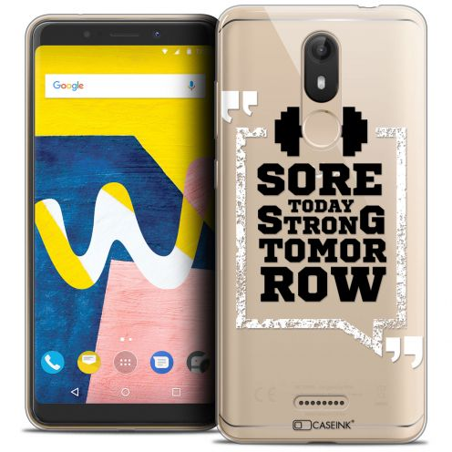 """Carcasa Crystal Gel Extra Fina Wiko View LITE (5.45"""") Quote Strong Tomorrow"""