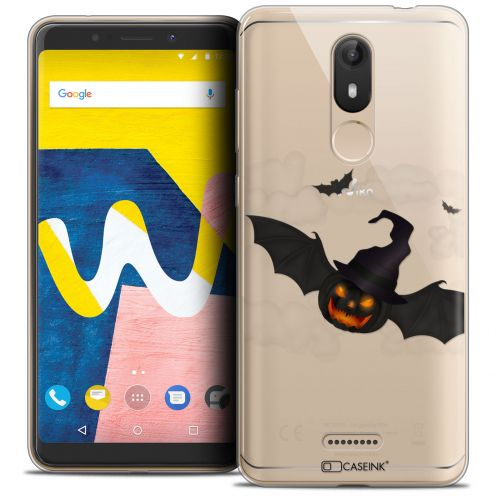 """Carcasa Crystal Gel Extra Fina Wiko View LITE (5.45"""") Halloween Chauve Citrouille"""