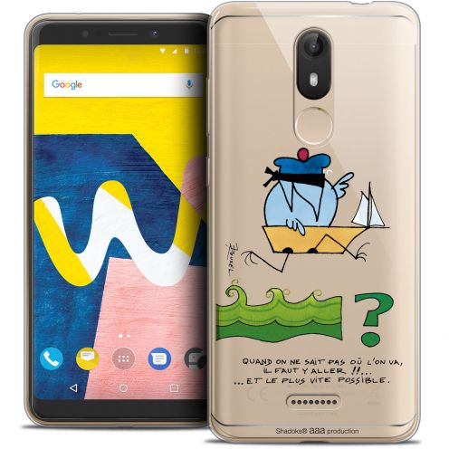 """Carcasa Crystal Gel Extra Fina Wiko View LITE (5.45"""") Les Shadoks® Il Faut Y Aller !!"""