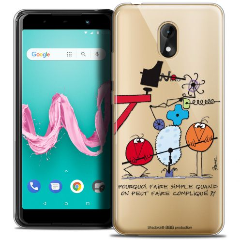 """Carcasa Crystal Gel Extra Fina Wiko Lenny 5 (5.7"""") Les Shadoks® Pourquoi faire Simple"""