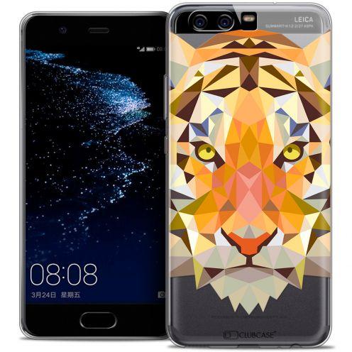Carcasa Crystal Gel Extra Fina Huawei P10 Polygon Animals Tigre