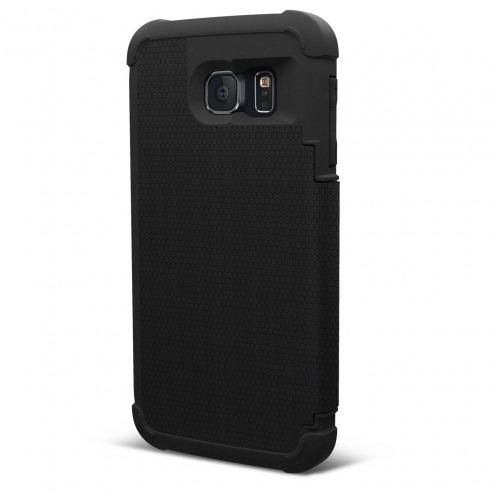 Funda Folio Anti-Golpes Galaxy S6 Urban Armor Gear® UAG Scout Folio Negro