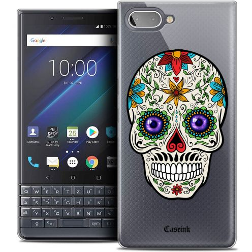 "Carcasa Crystal Gel Extra Fina BlackBerry Key2 LE (4.5"") Skull Maria's Flower"