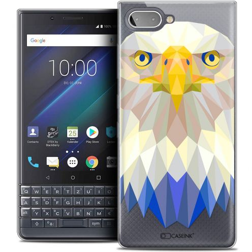 "Carcasa Crystal Gel Extra Fina BlackBerry Key2 LE (4.5"") Polygon Animals Águila"
