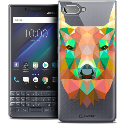 "Carcasa Crystal Gel Extra Fina BlackBerry Key2 LE (4.5"") Polygon Animals Ciervo"