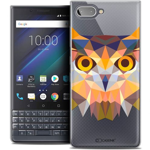 "Carcasa Crystal Gel Extra Fina BlackBerry Key2 LE (4.5"") Polygon Animals Búho"