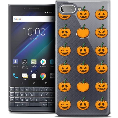 "Carcasa Crystal Gel Extra Fina BlackBerry Key2 LE (4.5"") Halloween Smiley Citrouille"
