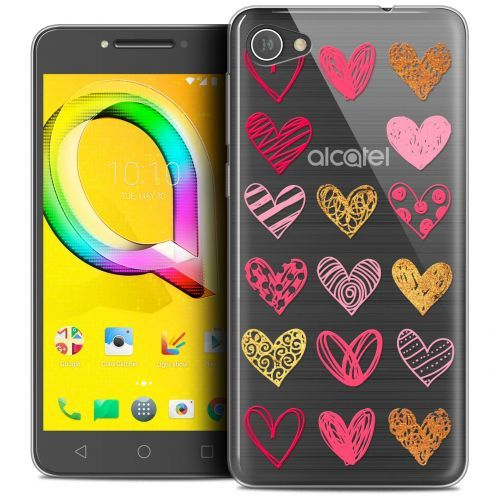 "Carcasa Crystal Gel Extra Fina Alcatel A5 LED (5.2"") Sweetie Doodling Hearts"