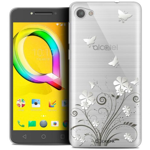 "Carcasa Crystal Gel Extra Fina Alcatel A5 LED (5.2"") Summer Papillons"