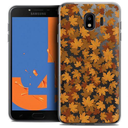"Carcasa Crystal Gel Extra Fina Samsung Galaxy J4 2018 J400 (5.5"") Autumn 16 Feuilles"