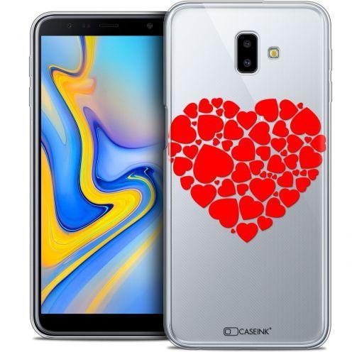 "Carcasa Crystal Gel Extra Fina Samsung Galaxy J6 Plus J6+ (6.4"") Love Coeur des Coeurs"