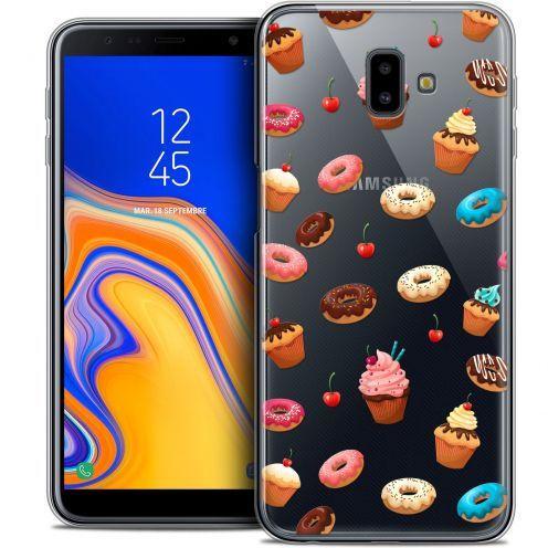 "Carcasa Crystal Gel Extra Fina Samsung Galaxy J6 Plus J6+ (6.4"") Foodie Donuts"