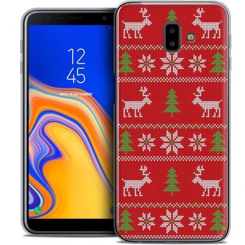 "Carcasa Crystal Gel Extra Fina Samsung Galaxy J6 Plus J6+ (6.4"") Noël 2017 Couture Rouge"