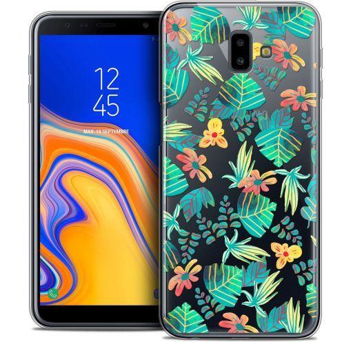 """Carcasa Crystal Gel Extra Fina Samsung Galaxy J6 Plus J6+ (6.4"""") Spring Tropical"""